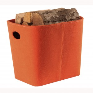 Orange Felt Log Holder