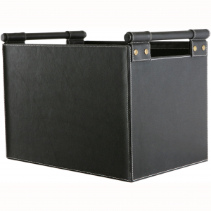 Black Rectangular Log Holder