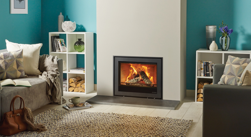Stovax Elise Edge + Woodburning & Multifuel Inset Stove