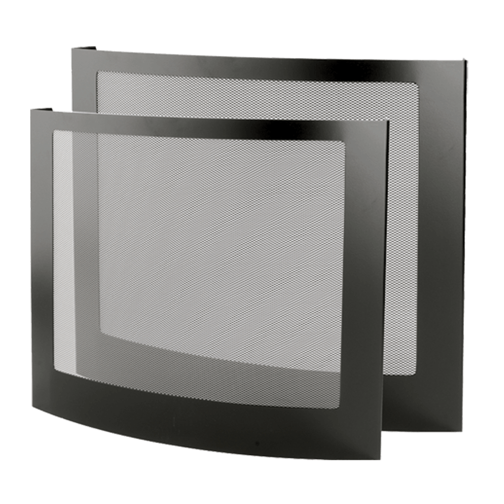 Stovax Curved Black Steel Fire Screen