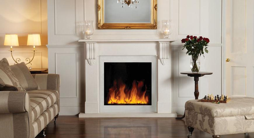 Gazco Riva2 70 2kW Electric Inset Stone Mantel Fire