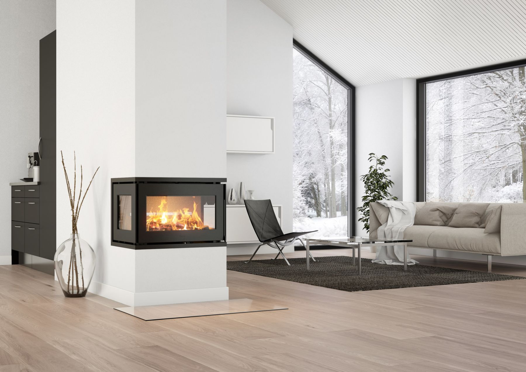 Heta Scan-Line Prestige Wood Burning Inset Stove
