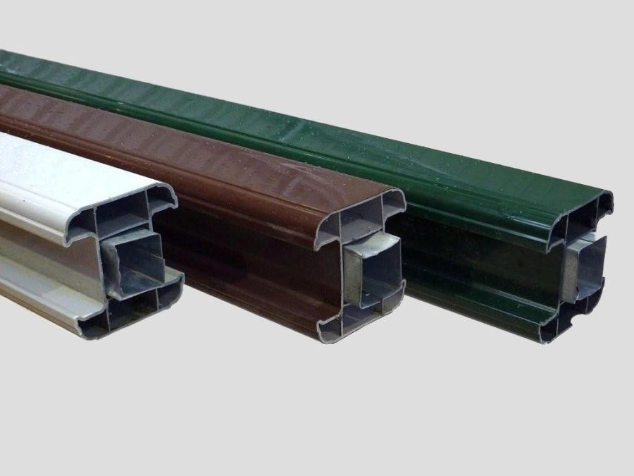 Garden Fence Upvc Pvcu Plastic Slotted Post 1 8m 6ft Brown