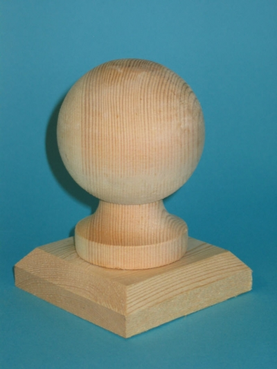 Garden Fence Gate Timber Wood Ball Post Cap 150mm 6 Inch