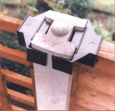 Fence Clamp Concrete Post Prevent Panels Blowing Out