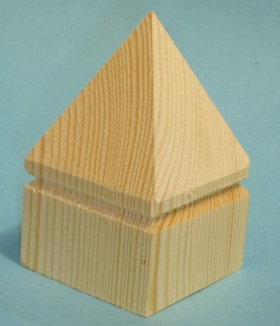 PYRAMID POST CAP 75mm/3 PACK 25
