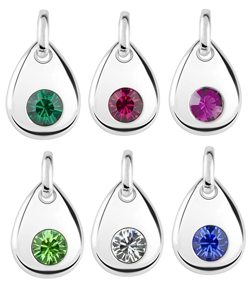 Real Swarovski Crystal Birthstone Charms