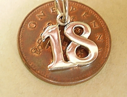 18 Eighteen Birthday Charm