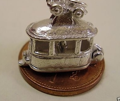 Cable Car Sterling Silver Charm
