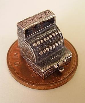 Cash Register Till Sterling Silver Charm