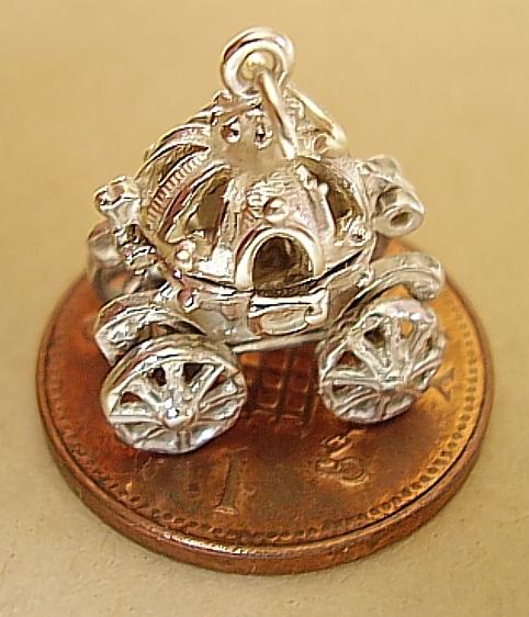 Sterling Silver Cinderella Coach Charm
