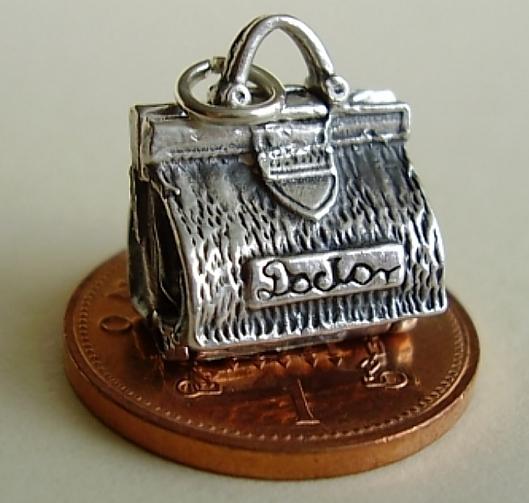 Doctors Bag Sterling Silver Charm