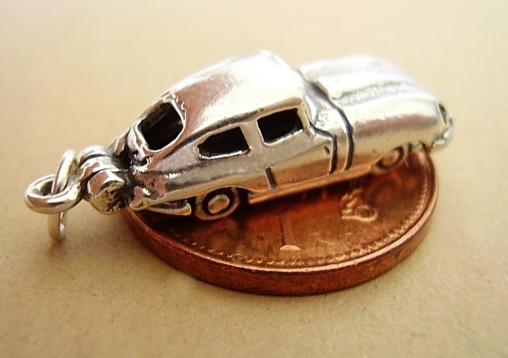 .925 Sterling Silver Jaguar E Type Car Charm