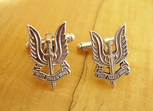 .925 Sterling Silver SAS Special Air Service Cufflinks