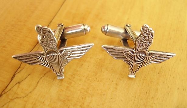 .925 Sterling Silver Parachute Regiment Cufflinks