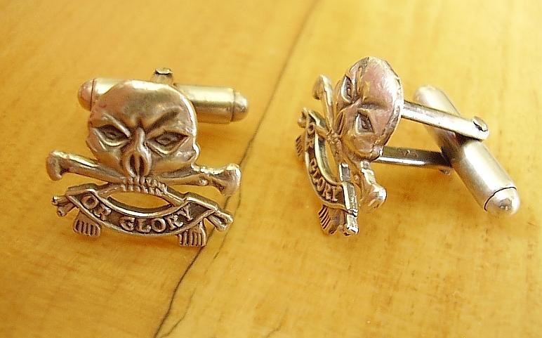 .925 Sterling Silver 17th 21st Lancers Regiment Cufflinks