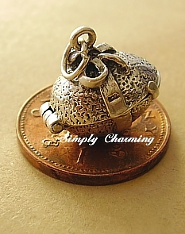 Easter Egg With Bow Silver Charm
