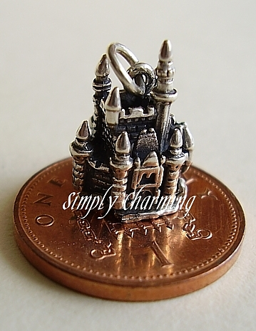 Fairytale Castle Sterling Silver Charm