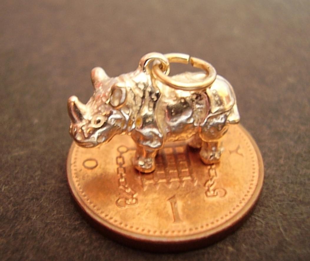 9ct Gold Rhino Charm