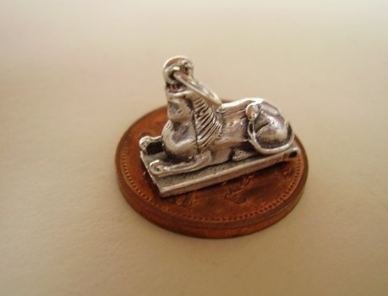 .925 Sterling Silver Opening Sphinx Charm - Hockley Charms