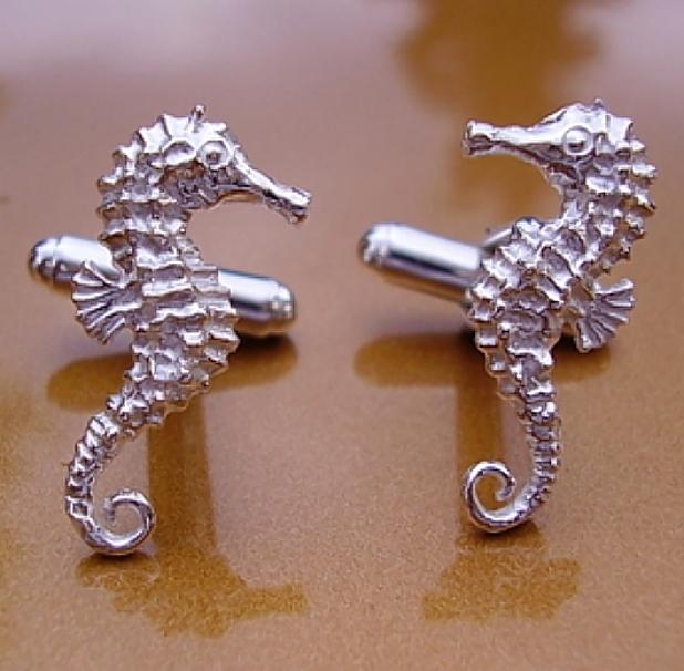 Seahorse Silver Cufflinks