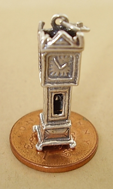 Grandfather Clock Sterling Silver Charm