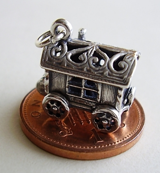 Gypsy Caravan Sterling Silver Charm