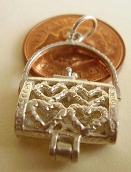 Filligree Handbag Sterling Silver Charm