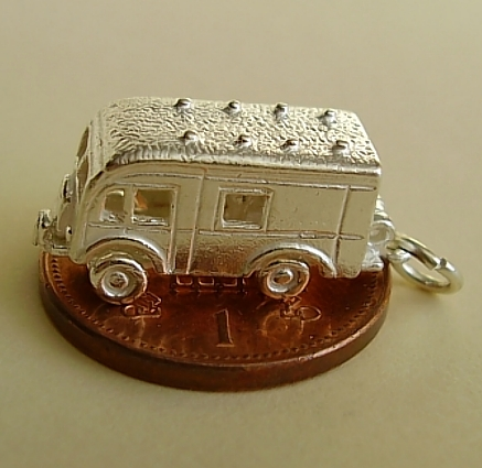 Horsebox Sterling Silver Charm