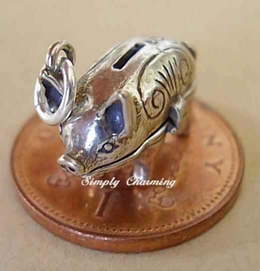 Piggy Bank Sterling Silver Charm