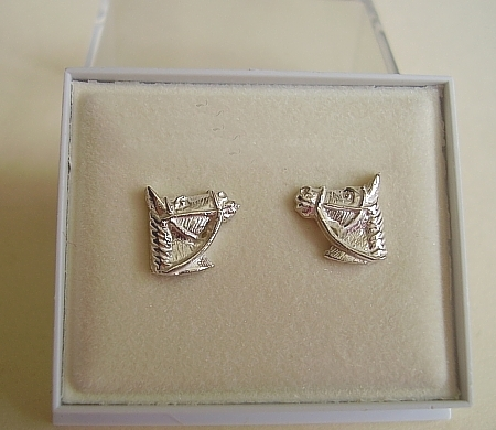 One Pair Sterling Silver Horses Head Stud Earrings