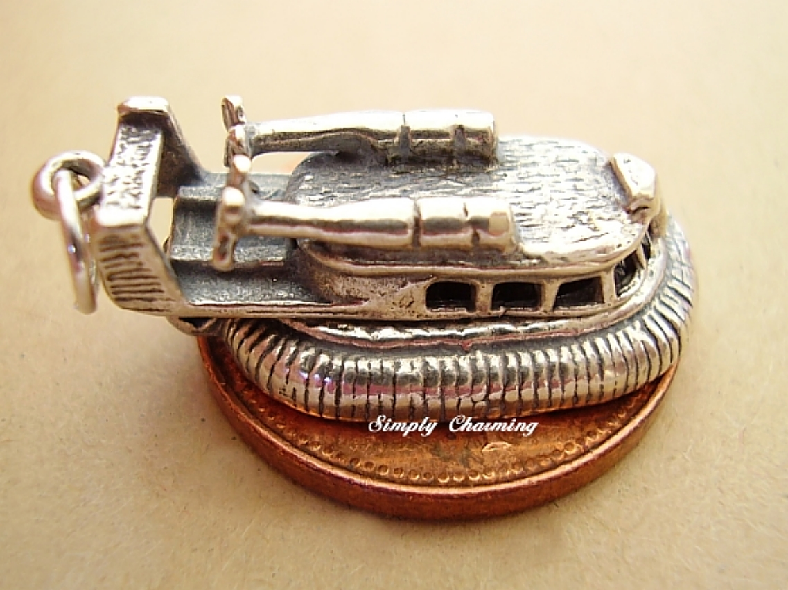 Hovercraft Sterling Silver Charm