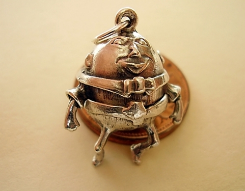 Humpty Dumpty  Sterling Silver Charm