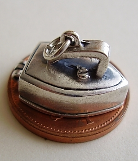 Iron Sterling Silver Charm