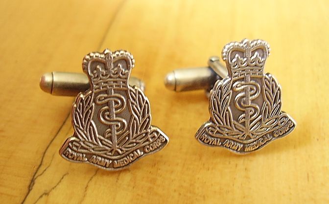 .925 Sterling Silver Royal Army Medical Corps Cufflinks