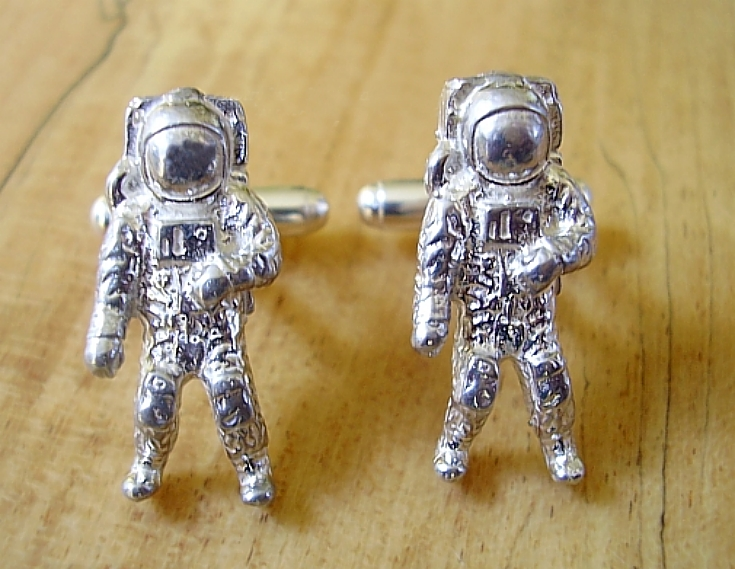 Sterling Silver Astronaut Spaceman sterling silver cufflinks