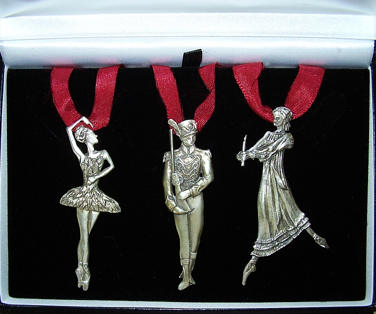 Sterling Silver The Nutcracker Christmas Tree Decorations