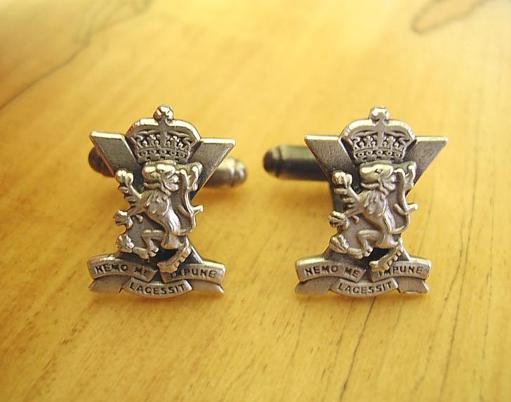 .925 Sterling Silver Scottish Regiment Cufflinks