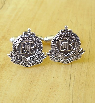 .925 Sterling Silver Royal Military Police Regiment Cufflinks