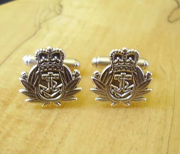 .925 Sterling Silver Royal Navy Regiment Cufflinks