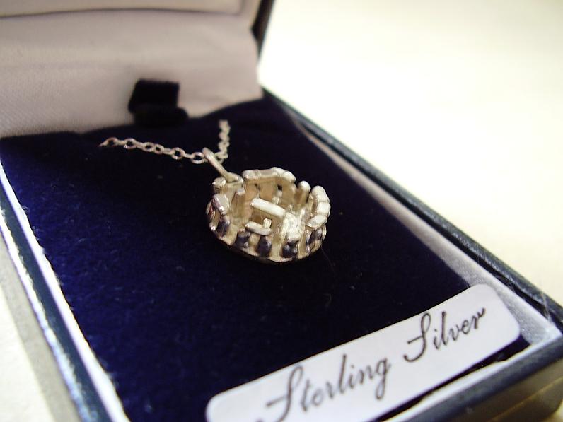 Sterling Silver Stonehenge Pendant & Chain