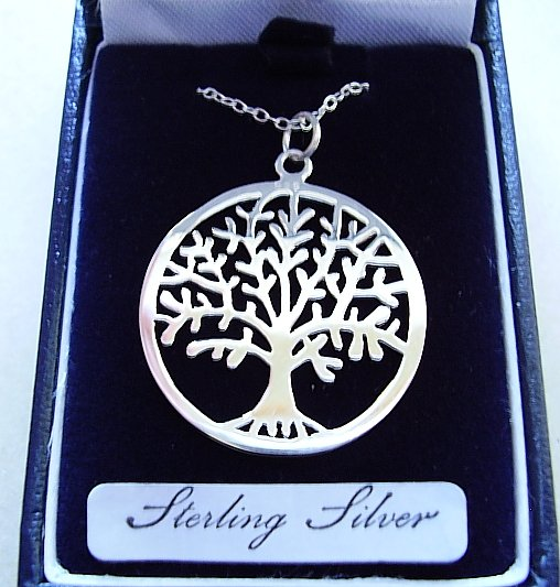 Sterling Silver Tree Of Life Pendant With Sterling Silver Chain