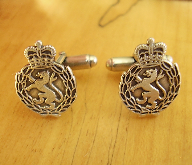 .925 Sterling Silver Womens Royal Army Corps Cufflinks