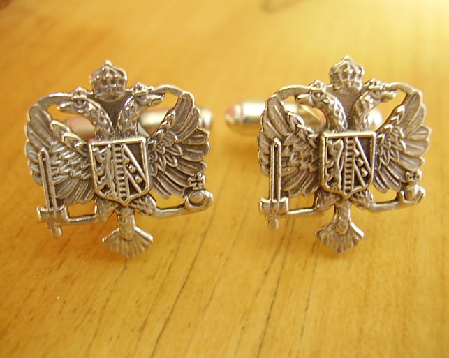 .925 Sterling Silver 1st Queens Dragoon Guards Regiment Cufflinks