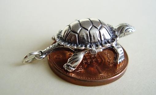 Tortoise & Hare Silver Charm