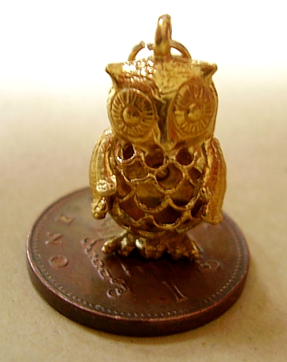 9ct Gold Filligee Owl Charm
