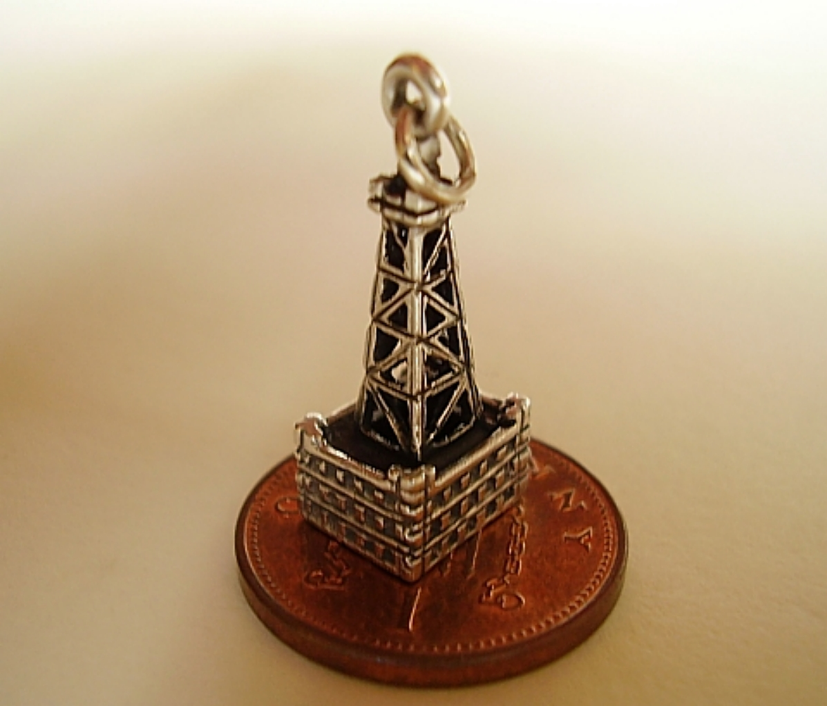 Blackpool Tower Silver Charm