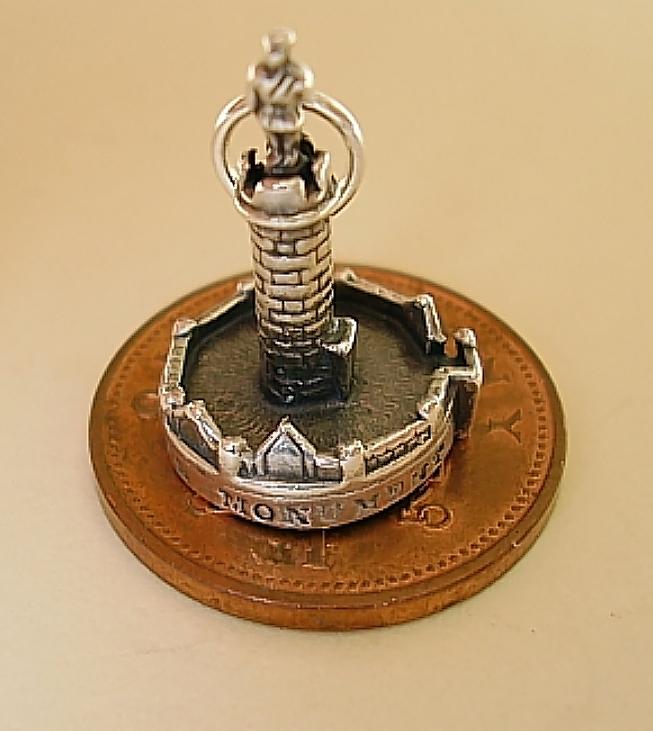 Prince Charlies Monument Silver Charm