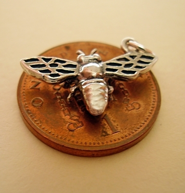 Bumble Bee Sterling  Silver Charm