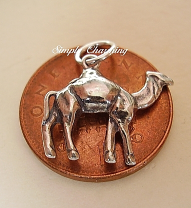 .925 Sterling Silver Camel Charm